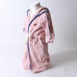 Dětský župan froté růžový s modrými prvky