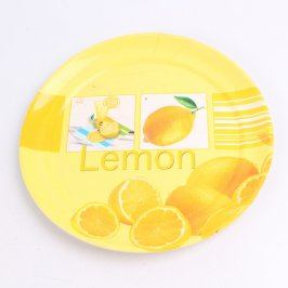 Talíř Vidal žlutý s citronem