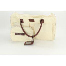 Dámská kabelka s taštičkou béžové