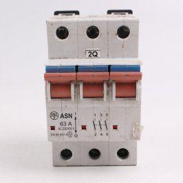 Páčkový výkonový spínač ASN 63A