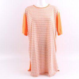 Dámská noční košile oranžovo růžová