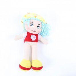 Látková panenka s modrými vlásky