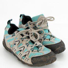 Dámské turistické boty šedomodré
