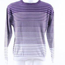 Pánský svetr Identic bílo fialové pruhy