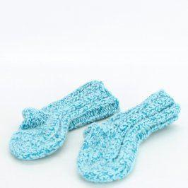Dětské pletené ponožky modré