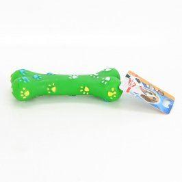 Hračka - vinylová žvýkací kost zelená