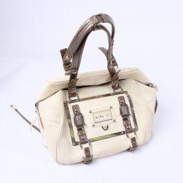 Dámská kabelka béžová s hnědými popruhy