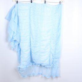 Přehoz přes postel modrý s výšivkami
