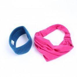 Dámská čelenka modrá Ergee a růžový šátek