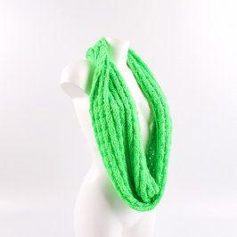 Dámská šála zelená pletená