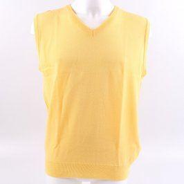 Pánský svetr bez rukávů odstín žluté