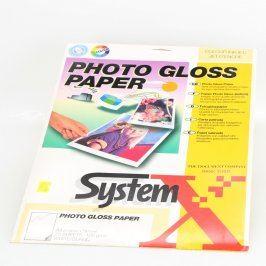 Fotopapíry SystemX A4 lesklé 100 g/m2 25 ks