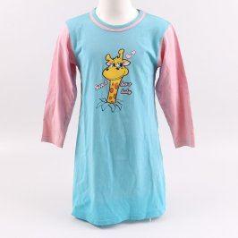 Noční košile modro růžová se žirafou