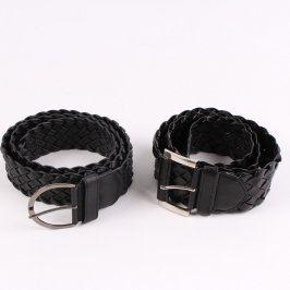 Dámské koženkové pásky černé 2 ks