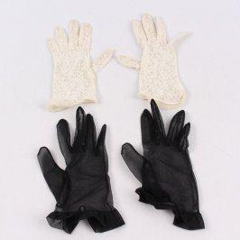 Dámské rukavice černé a bílé