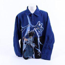 Dětská košile Fei Yang modrá se samurajem