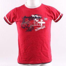 Dětské tričko Authority odstín červené