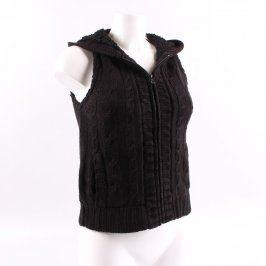 Dámská vesta černá pletená
