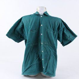 Pracovní košile krátký rukáv tmavě zelená