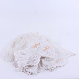 Záclona vzorovaná odstín bílé