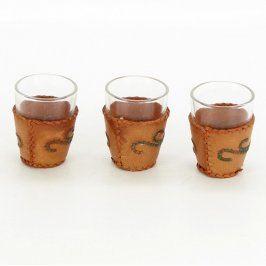 Panákové skleničky s ozdobným pouzdrem