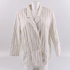 Dámské lehké sako bílé s pruhy