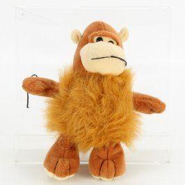 Plyšová opička hnědá 16 cm