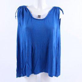 Dámský volný top odstín modré