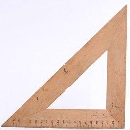 Starožitné pravítko pravoúhlý trojúhelník
