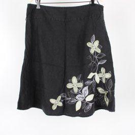 Dámská sukně TU černá s květinami
