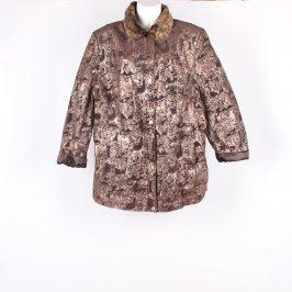 Pánská bunda odstín hnědé se vzory