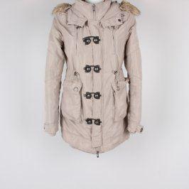 Dámská bunda Amisu béžová s kapucí