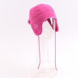 Dětská čepice Cherokee růžová s tkaničkami