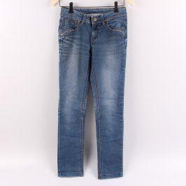 Dámské džíny odstín modré úzké