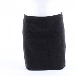 Dámská sukně zateplená černá