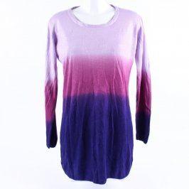 Dámský svetr fialovo růžovo modrý