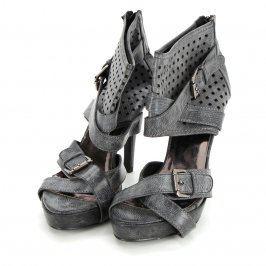 Dámské boty kožené na podpatku