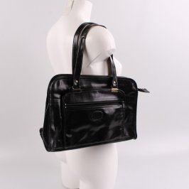 Dámská kabelka přes rameno lesklá černá