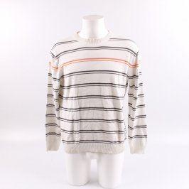 Pánský svetr Esprit bílý s pruhy