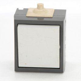 Vypínač na světlo černobílé barvy