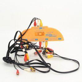 Přepínač RCA/RGB 4 vstupy na jeden výstup