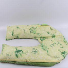 Polštář za krk žluto zelený