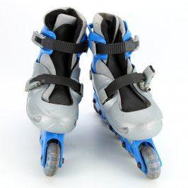 Kolečkové brusle X-BOY modro šedé