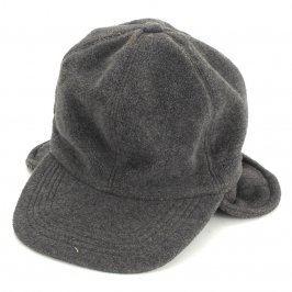 Čepice odstín šedé s kšiltem