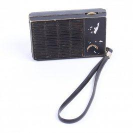 Přenosné rádio černé barvy