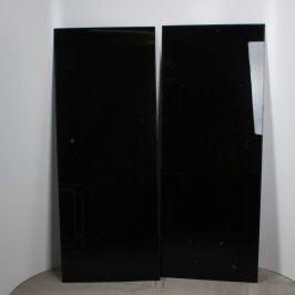 Skleněné dveře 163 x 64 cm 2 ks