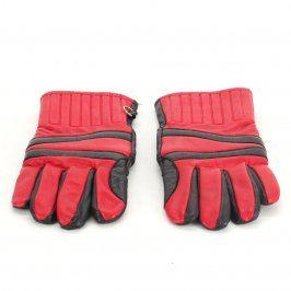 Dámské rukavice prstové černočervené