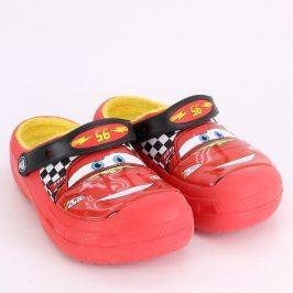 Dětské boty Crocs červené s autem