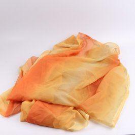 Závěs oranžovo-žlutý 142 x 230 cm