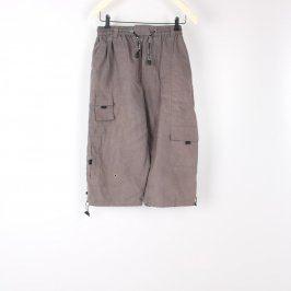 Pánské tříčtvrteční kalhoty odstín hnědé